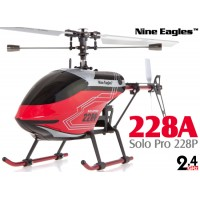 Nine Eagles (NE-R/C-228A-SOLO-PRO-R) Solo Pro 228P 4CH Helicopter RTF (Red) - 2.4GHz
