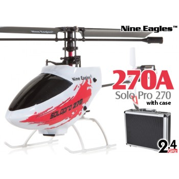 Nine Eagles (NE-R/C-270A-R-CASE) Solo Pro 270 4CH Helicopter with Aluminum Case RTF (Red) - 2.4GHzNine Eagles Helicopters