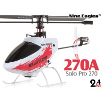 Nine Eagles (NE-R/C-270A-SOLO-PRO-R) Solo Pro 270 4CH Helicopter RTF (Red) - 2.4GHz