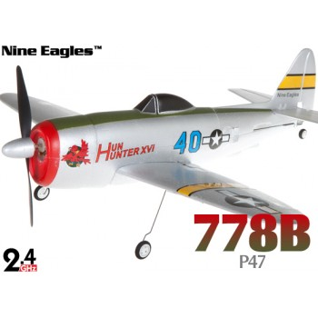 Nine Eagles (NE-R/C-778B) 4CH P47 Ultra-Mirco Cassic RTF Airplane - 2.4GHzNine Eagles