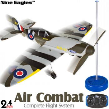 Nine Eagles (NE-R/C-797B-SF) FlyLine Air Combat Complete Flight System 2CH Airplane ARTF (Spit Fire) - 2.4GHzNine Eagles