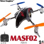 Nine Eagles (NE-MASF02-R) Alien 4CH UFO RTF (Red) - 2.4GHz