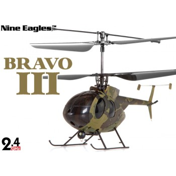 Nine Eagles (NE-R/C-312A-BRAVOIII-C) 4CH Bravo III Micro Helicopter RTF (Camouflage) - 2.4GHzNine Eagles Helicopters