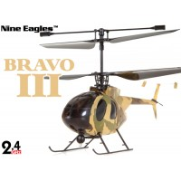 Nine Eagles (NE-R/C-312A-BRAVOIII-Y) 4CH Bravo III Micro Helicopter RTF (Yellow) - 2.4GHz