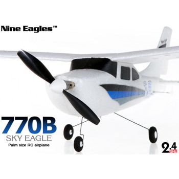 Nine Eagles (NE-R/C-770B) 3CH Sky Eagle Mini Airplane RTF (Blue) - 2.4GHzNine Eagles