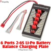 DragonSky (DS-BCP-6-T) 6 Ports 2-6S Li-Po Battery Parallel Charging Board - T-Plug Deans Style