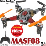 Nine Eagles (NE-MASF08-S) Galaxy Visitor 1 3 Axis Gyro 4CH UFO with Video Camera and TF PRO Transmitter RTF (Silver, Mode 2) - 2.4GHz