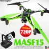 Nine Eagles (NE-MASF15-G-M2) Galaxy Visitor 6 6 Axis Gyro 4CH FPV Quadcopter with HD 720P Camera and JFQ Transmitter RTF (Green, Mode 2) - 2.4GHz