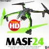 Nine Eagles (NE-MASF24-G-M2) MOLA M24 6 Axis Gyro 4CH FPV Mini Quadcopter with HD 720P Camera and JFQ Transmitter RTF (Green, Mode 2) - 2.4GHz