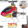 Nine Eagles (NE-R/C-287A-SOLO-PRO-RY-GL) SOLO PRO 287 6CH Flybarless 3D Helicopter with General Link ARTF (Red-Yellow) - 2.4GHzNine Eagles Helicopters