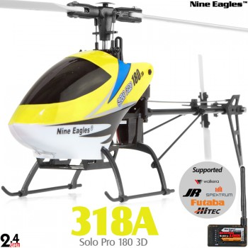 Nine Eagles (NE-R/C-318A-SOLO-PRO180-Y-GL) Solo Pro 180 3D 3-Axis-Gyro System 6CH with General Link ARTF  (Yellow) - 2.4GHz